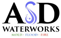 Water damage, Fire, Smoke Damage Restoration and Mold Removal | Southeast Michigan | ASD Waterworks Logo